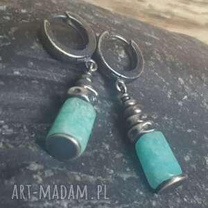 kolczyki na prezent srebrne z amozonitem