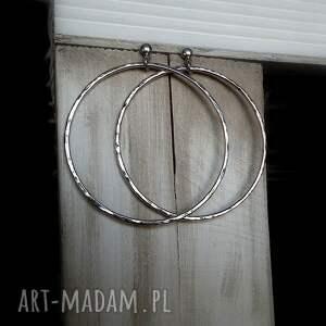 okrągłe kolczyki srebrne duże koła -6,5cm