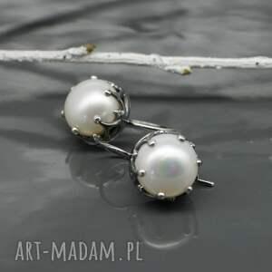 perły kolczyki srebrne z perłami