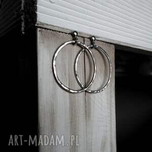 kolczyki srebrne-kolczyki 4,5cm srebrne koła