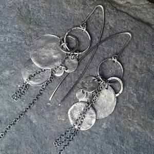 kolczyki oksydowane srebrne