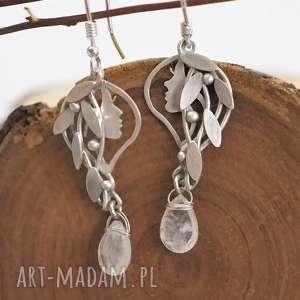 atrakcyjne srebro srebrne kolczyki leśne driady