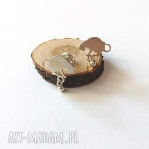 srebro srebrne kolczyki kotki