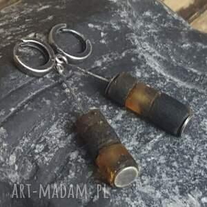 kolczyki srebro-bursztyn srebrne z bursztynem