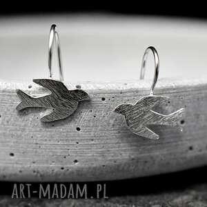 kolczyki srebro 925 srebrne ptaki