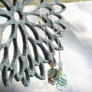 eleganckie kolczyki srebrne wiszące