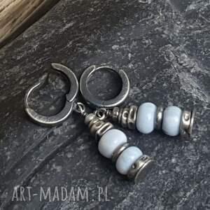 urokliwe kolczyki kolczyki-wiszące srebrne z opalami