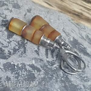 trendy kolczyki bursztyn-bałtycki srebrne z bursztynami