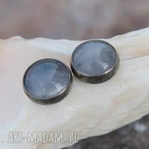 kolczyki kolczyki-z-agatem srebrne z szarych agatów