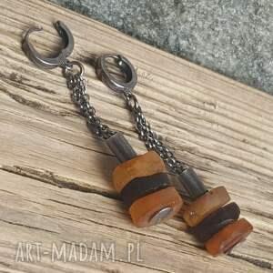 kolczyki kolczyki-ze-srebra srebrne z bursztynami