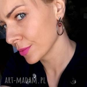 kolczyki modne srebro i kwarc różowy