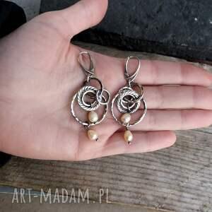 Srebro i perły - kolczyki - srebrne bogate