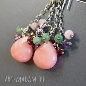 nietuzinkowe jadeity urokliwe kolczyki wykonane ze srebra