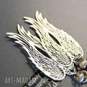 kolczyki skrzydła srebro, koczyki srebrne anioły