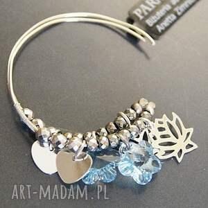 kolczyki srebro srebro, swarovski blue