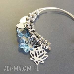 niebieskie kolczyki swarovski srebro, blue