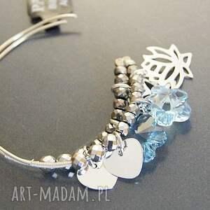 kolczyki swarovski srebro, blue