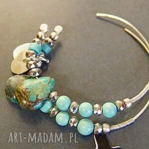 oryginalne kolczyki turkusy srebro, w pastelach