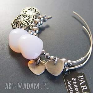 kolczyki koła urokliwe wykonane ze srebra