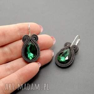 zielone kolczyki eleganckie sutasz