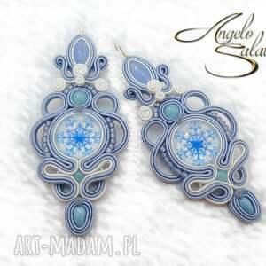 niebieskie kolczyki sutasz - śnieżne piękności