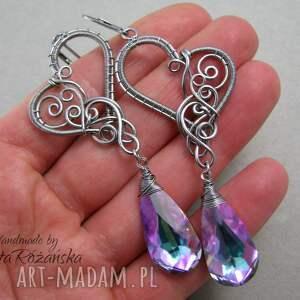 unikalne kolczyki swarovski crystal vitrail