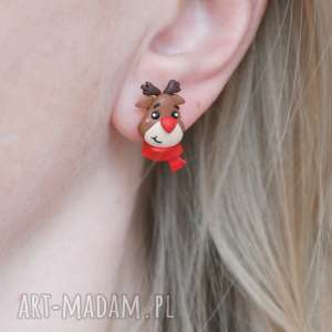 pomysł na świąteczny upominek kolczyki renifer rudolf