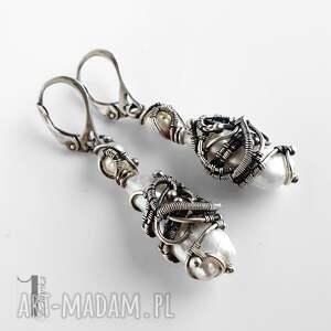 wyjątkowe kolczyki tempus srebrne