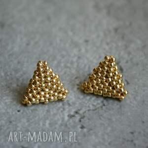 kolczyki trójkąty złote