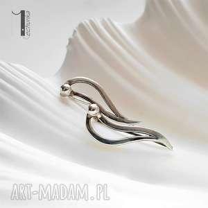 niepowtarzalne kolczyki srebrne wave nausznice