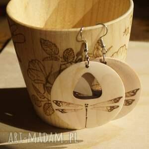 ręczne wykonanie kolczyki ważka dzienna nocna - ręcznie