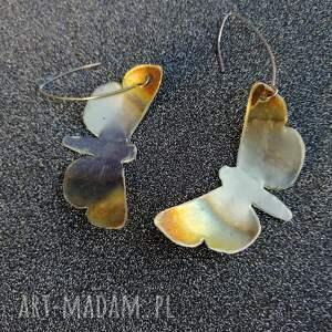 kolczyki z alpaki motyle - k24
