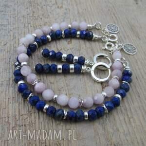 srebro kolczyki z lapis lazuli -