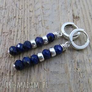 kolczyki srebro z lapis lazuli -