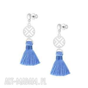 handmade kolczyki kolczyki-z-chwostem z niebieskim chwostem