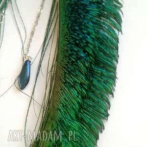 Blanka Atelier pawie kolczyki z pawich piór - miecze