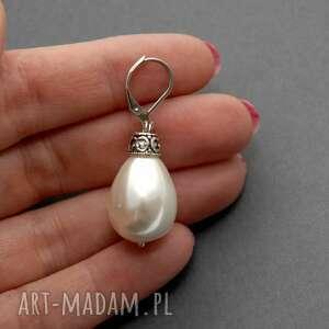 kolczyki perła z perłą seashell