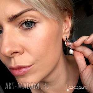 białe kolczyki z-perłami z perłami - srebro 925