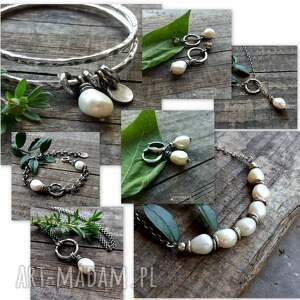 trendy kolczyki z perłami - srebro 925