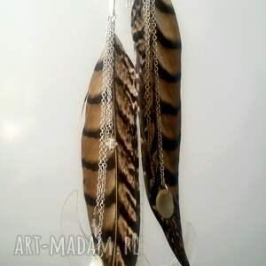 wyraziste pióra kolczyki z piór - miecze odsłona