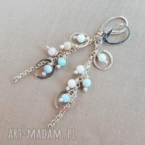 Kolczyki ze srebra i morganitu - kobiece delikatne
