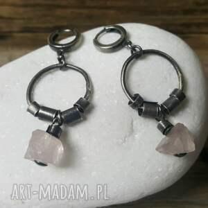 srebro-z-kwarcem kolczyki ze srebra z kwarcem