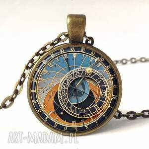 kolczyki niebieskie zegar praski - duże