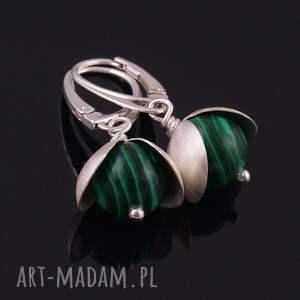 zielone kolczyki z malachitu
