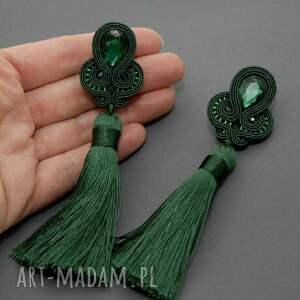 kolczyki ciemnozielone zielone sutasz