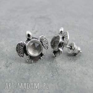 gustowne morskie żółwik morski z kryształem