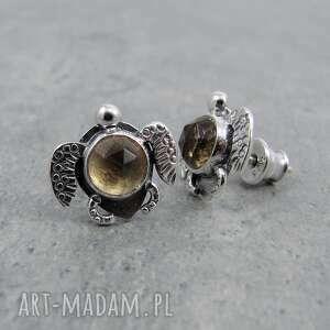 Amade Studio Żółwik morski z cytrynem - kolczyki sztyfty zolw