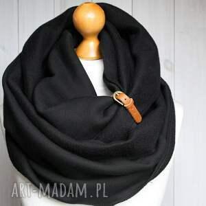 hand made kominy komin czarny zimowy z zapinką
