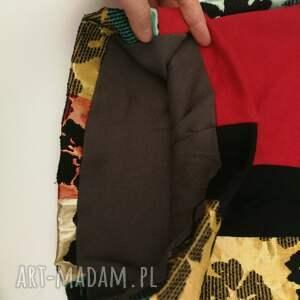 kominy: komin etniczny boho wiosenny patchworkowy kolorowy