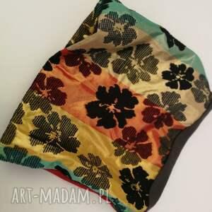 Ruda Klara kominy: komin etniczny boho wiosenny patchworkowy patchwork